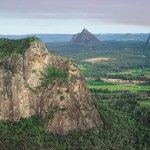 003953Glass House MountainsView to Glass House Mountains